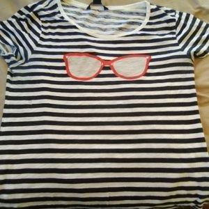 French connection women's stripe shirt